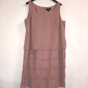 Midnight Velvet, Coral Pink Ruffle dress size 20W